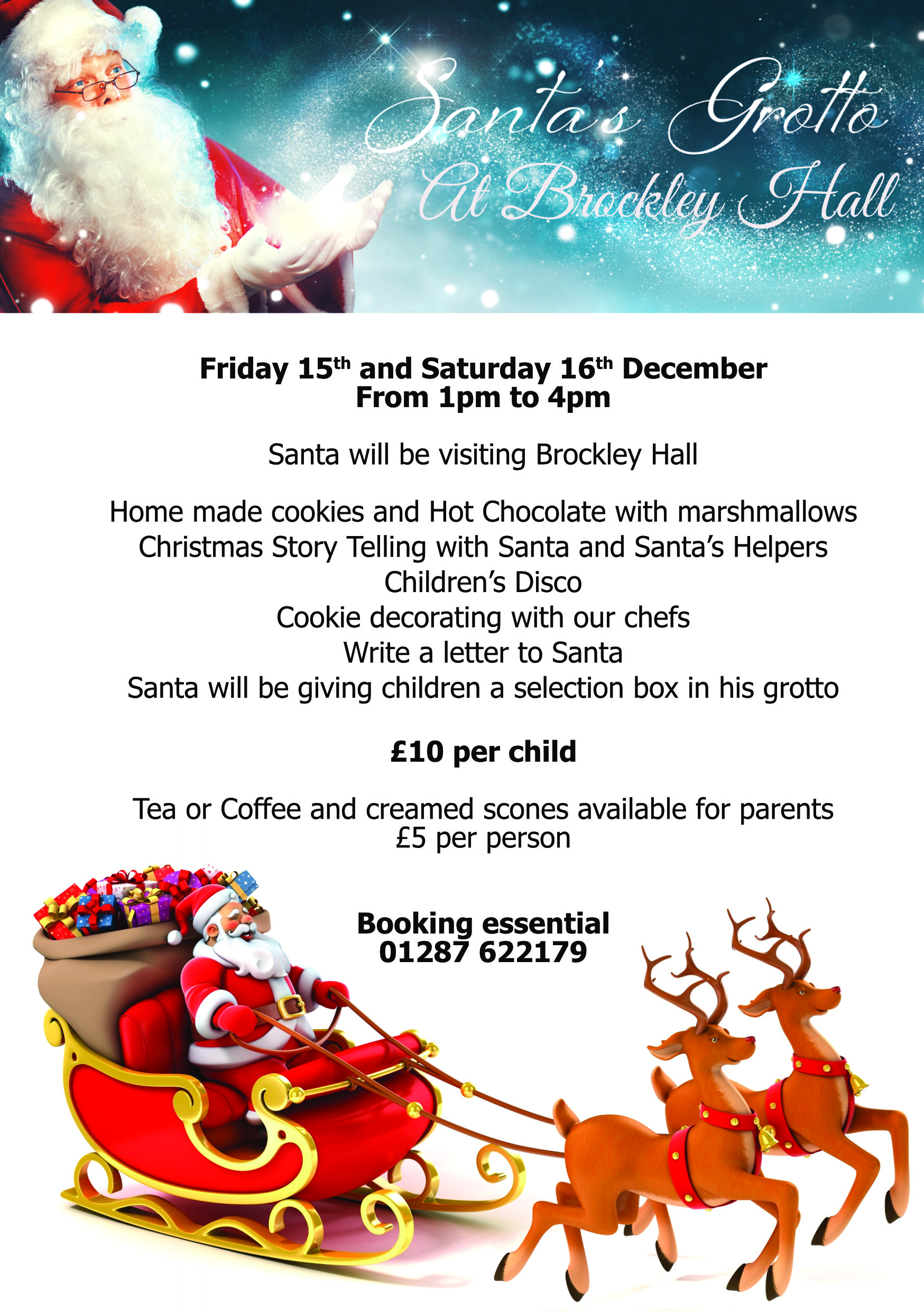Brockley Hall Hotel  Santa Is Visiting Brockley Hall